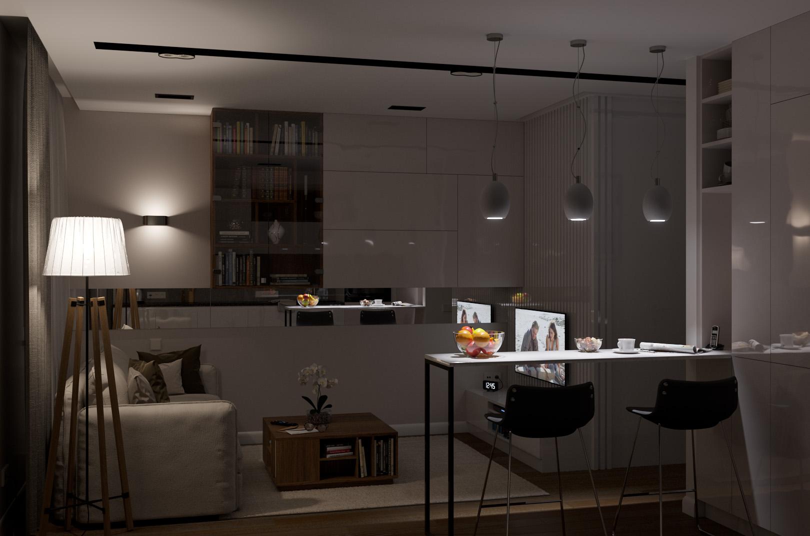 Комната, приглушенный свет